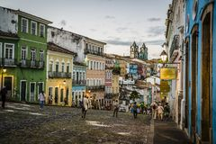 Largo Pelourinho, Salvador, Baía, Brasil fotografia de stock