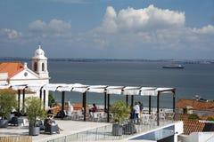 Largo Portas do Sol Lisbon Royalty Free Stock Photos