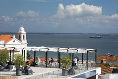 Largo Portas gör Sol Lisbon Royaltyfria Foton