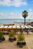 Largo Portas gör Sol Lisbon Fotografering för Bildbyråer