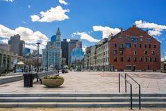 Largo y distrito financiero Boston el aterrizaje y aduanas del muelle Fotografía de archivo libre de regalías