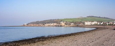 Largs Bay and Knock Hill in the Distance in North Ayrshire Scotland. Largs bay and Knock Hill in the Distance on the West Coast of Scotland royalty free stock photos