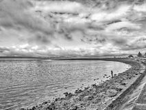 Largs North Esplanade, Aubery and towards the hills in the Dista. Largs North Esplanade and towards the hills in the Distance on a cold Boxing day in largs 2017 Stock Images