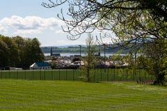 Largs od Inverclyde Za Millport Arran Szkocja zdjęcie royalty free