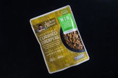 Curried ChickPeas in a packet royalty free stock photos