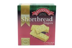 Paterson`s Branded Shortbread Fingers in Recyclable packaging an royalty free stock photos