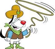 Lariat dog Stock Image