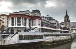 LaRibera marknad i Bilbao arkivfoto