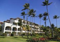 现在Larimar包括所有的旅馆Bavaro海滩位于蓬塔Cana,多米尼加共和国 免版税图库摄影