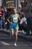 Larisa Zyuzko na maratona de Praga imagem de stock