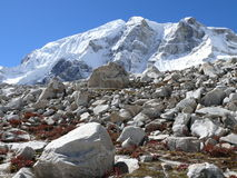 Larke peak (6 249 m n. m.) - Nepal Stock Photo