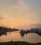 Larkspur Ferry at Sunrise. Larkspur California ferry terminal at sunrise stock photos