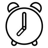 Larm klocka, klocka, tidsymbol stock illustrationer