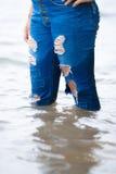 Larme des jeans image libre de droits