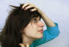 Larmes et dépression images stock