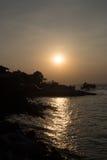 Larn de la KOH de la puesta del sol en pattaya foto de archivo libre de regalías