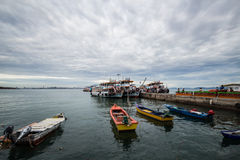 The Larn Island Port, Pattaya Thailand. The Larn Island is very close to Pattaya City, Thailand which you could take a ship from the port in Pattaya to there Royalty Free Stock Photo