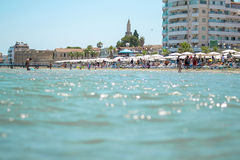 Larnaca beach, Cyprus Royalty Free Stock Images