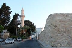 Larnaca Castle and Djami Kebir Mosque in Larnaca, Cyprus royalty free stock photo