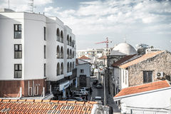 LARNACA, CHIPRE - 13 DE MARÇO: vista da cidade velha o 13 de março de 2016 Imagens de Stock