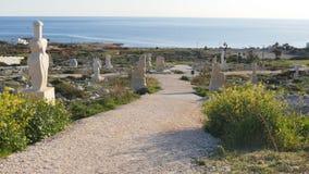 LARNACA, CHIPRE, EL 17 DE FEBRERO: Parque de la escultura en Ayia Napa, Chipre, el 17 de febrero de 2017 metrajes