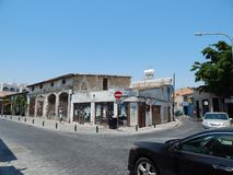 LARNACA, CYPRUS - JULY 29, 2015. People on streets royalty free stock images
