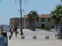 LARNACA, CYPRUS - JULY 29, 2015. People on streets royalty free stock photo