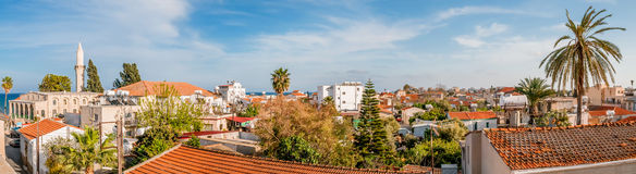 Larnaca. Cyprus. Panorama of old town.  Royalty Free Stock Images