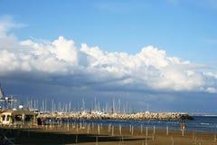 Larnaca empty beach stock image