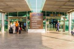 Larnaca flygplats, Cypern royaltyfria foton