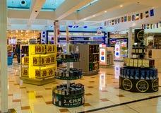 Larnaca flygplats, Cypern royaltyfria bilder