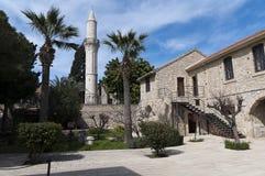 Larnaca/fortaleza y mezquita de Chipre Foto de archivo libre de regalías