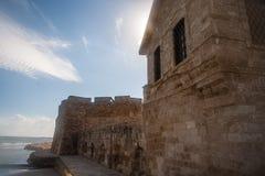 Larnaca gammal town Arkivfoton