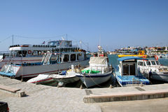 Larnaca Harbor Cyprus Stock Photography