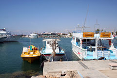Larnaca Harbor Cyprus Royalty Free Stock Image