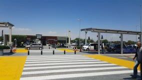 Larnaca Internationale luchthaven stock footage