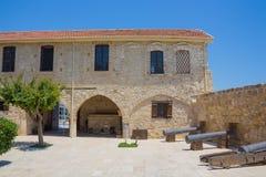 Larnaca medeltida fort Arkivfoto