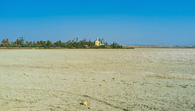 Larnaca Salt lake Royalty Free Stock Photo