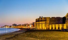 Larnaca slott, Cypern Arkivbilder