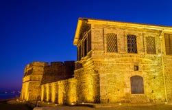 Larnaca slott, Cypern Arkivbild