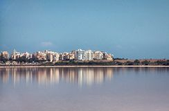 Larnaca, view to city from salt lake Stock Images