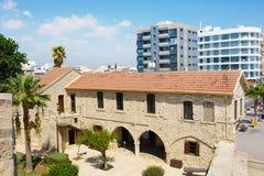 Larnaka中世纪城堡(堡垒) 免版税库存图片