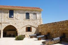 Larnaka中世纪城堡(堡垒) 免版税库存照片