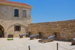 Larnaka średniowieczny fort Zdjęcie Royalty Free