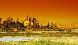 Larnaka Hala Sultan Tekkesi mosque Royalty Free Stock Image