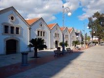 Larnaka historical marina in city center royalty free stock images