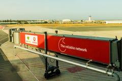Larnaka lotnisko, Cypr fotografia stock