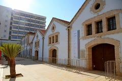 Larnaka Miejska galeria sztuki na Europa kwadracie w Larnaka, Cypr Zdjęcia Stock