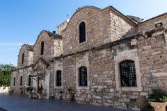 Larnaka stary grodzki kościół Zdjęcie Royalty Free