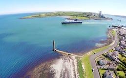 Larne-Hafen Co Antrim N Irland stockbilder